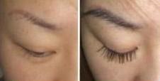 睫毛种植的对比图