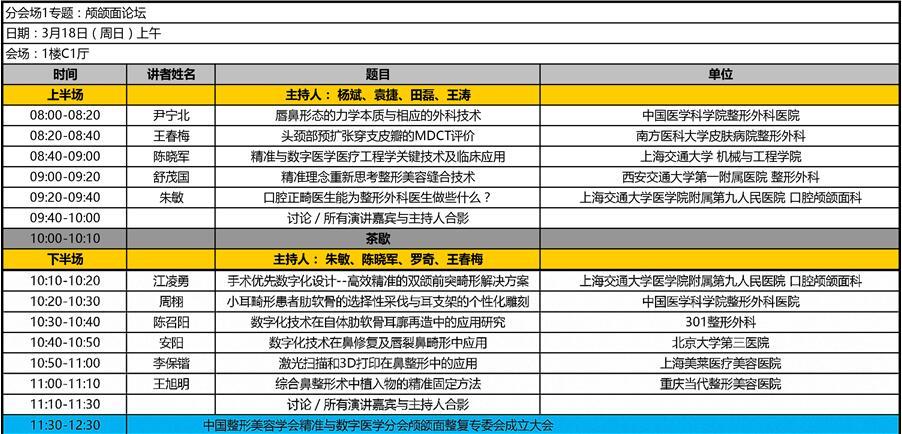 中国整形美容协会精准与数字医学分会学术年会(广州)